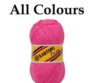 Kartopu Flora 100% Acrylic yarn , knitting yarn, sock yarn, crochet yarn, blanket yarn,baby yarn, soft yarn, winter yarn, Turkish yarn