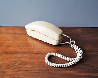 Vintage Trimline Phone, Rotary Dial Telephone, Beige Trimline Phone, Western Electric, The Trimline Phone, 1967 Rotary Dial