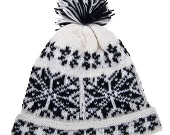 Norwegian Selbu Hand Knit Hat Winter Hat Warm Beanie Cozy Hat Handmade Hat Woolen Hat