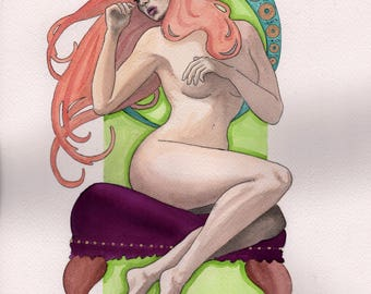 """Original Watercolor - """"Desire"""""""