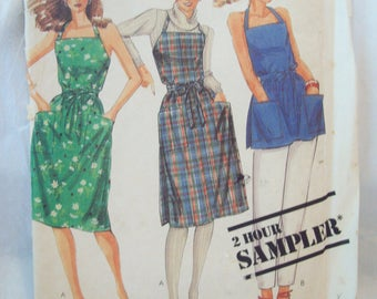 Vintage Wrap Dress or Wrap Top 1980s McCalls 2-Hour Sampler Pattern Uncut Sizes XS-Large