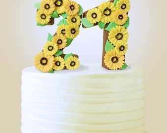 Chocolate Number Cake Topper, 21st Birthday Cake Topper, Edible Cake Topper, Number Birthday Cake Topper