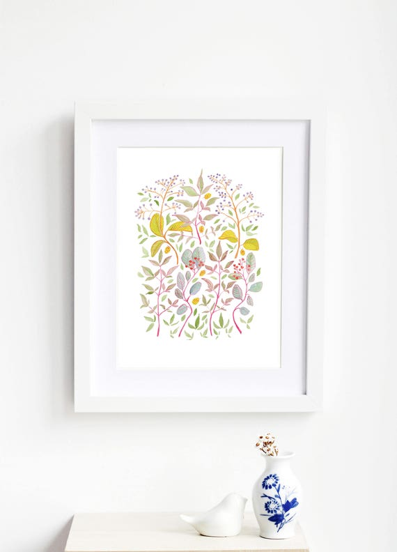 Dancing Leaves Art Print