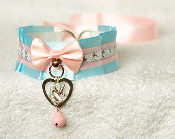 Lovely Unicorn - collar for pet play, kitten play, age play, ddlg, abdl, bdsm, lolita