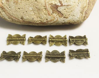 African Brass Beads , Ethnic Beads, Jewelry Making Supplies, Unique Beads  (*AJ312*)