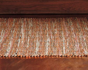 "Hand Woven Quiet Autumn Patchwork Table Runner - 13"" x 23"""