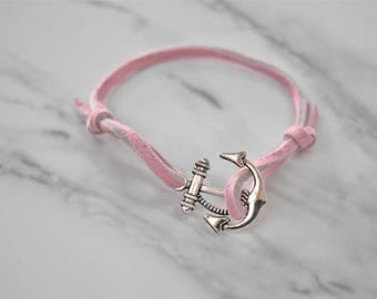 Light Pink Anchor Bracelet