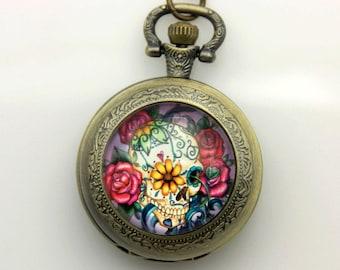 Necklace Pocket watch Crane Mexico