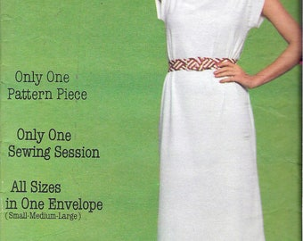 """Vintage 1970's  Butterick 5402 One-Piece Tubular Dress Sewing Pattern Small 8-10, Medium 12-14, Large 16-18, Bust 31/12"""" - 40"""""""