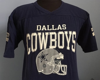 80s Vintage Dallas Cowboys nfl football T-Shirt - LARGE