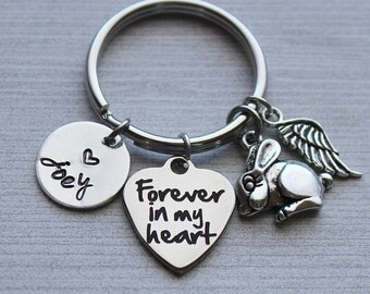 Forever In My Heart Bunny Loss Keychain, Pet Loss, Pet Loss Remembrance, Bunny Loss Gifts, Kid's Pet Loss Gifts, Bunny Memorial, Bunny Loss