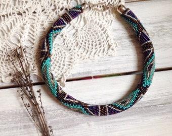 native american, beaded necklace ,  ethnic necklace,  tribal necklace,    boho necklace,   fringe necklace,   beadwork jewelry