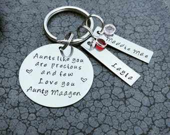 Aunts Like You Are Precious And Few Personalized Keychain Gift for Aunt