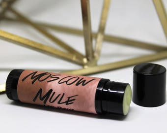 Moscow Mule- Lip Balm- Alcohol- Lipbalm- Ginger and Lime- Gift- Wedding Favour- Copper Mug- Pub-  Medusa Holistics