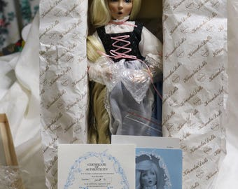 1991 Rapinzel Doll - Edwin M Knowles - Mint in Original Box - Never Removed from Box -All Paperwork Included - Dianna Effner Artist Doll