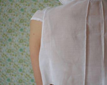 Chrysalis white pleated organza Bolero