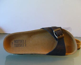 Mootsies Tootsies Suede & Cork Slides Made in Italy Size 7