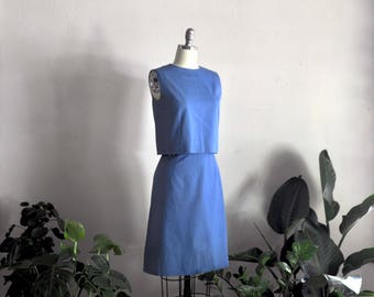 1960s dress | just like this | vintage two-piece cotton dress