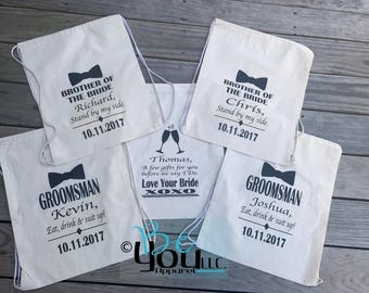 wedding party bags; groom gift; gift for groom; GROOM GIFT BAG; groomsman bag; groomsman gift; wedding; groom to be; wedding party gifts