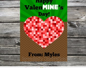 Printable Gaming Valentine's Day Cards, Valentine Cards, Kids Valentines Day Cards, Gaming Valentine Tags, DIY Gaming Valentine's Day tag
