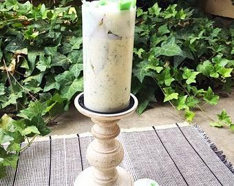 Herbal Chunky Pillar Candle
