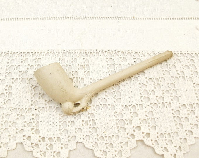 Antique Victorian Unused White Clay Pipe with Footballer's Boot and Ball, Collectible Smoking Accessory, Sporting Curios, Tobacciana France