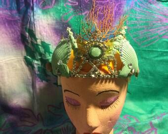 Sea foam green crown