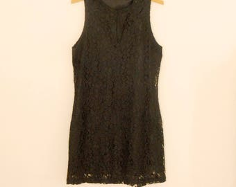Black Lace Dress - 1980s