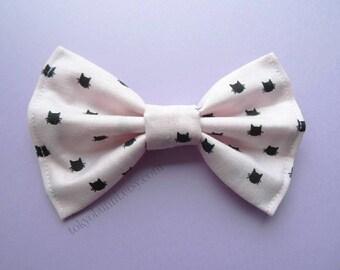Pastel Pink Kitty Hair Bow- Kawaii -Fairy Kei -Pastel Goth-Cute - Harajuku - Sweet Lolita