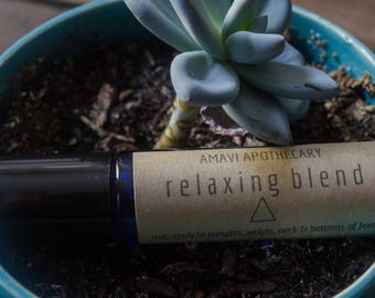 Relaxing Blend / Anxiety Oils /  Essential Oil Blend / Essential Oils / Relaxing / Anti-Anxiety / Roller Bottle Blend / Anxiety Relief