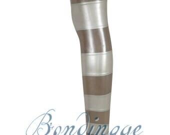 Latex Gradient Stripe Stockings