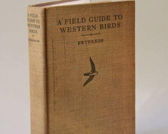 Antique Book 1941 A Field Guide to Western Birds Illustrated Hardcover Collectible Animal Lover Gift Outdoors