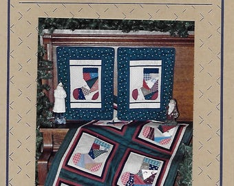 Patched Stockings Quilted Wall Hanging Pattern for Holiday Sewing