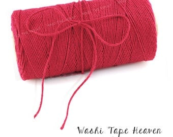 Solid Red Bakers Twine - 240 yard spool - 100% Cotton Divine Twine Made in the USA - Biodegradeable
