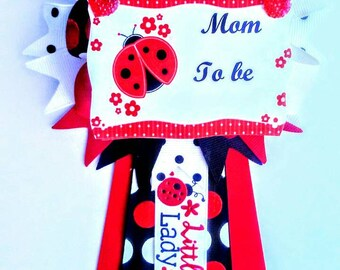 Mommy To Be Baby Shower Corsage, Ladybug Baby Shower Corsage