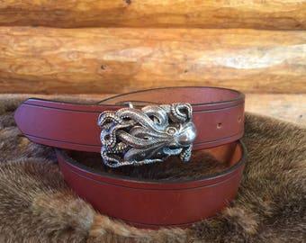 Full grain English Bridle leather belt