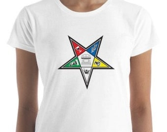 OES (Order of the  Eastern star)  Women's short sleeve t-shirt, tees