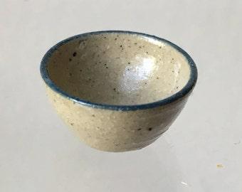 "Dollhouse Miniature 1"" scale Jane Graber Stoneware Bowl 1995"