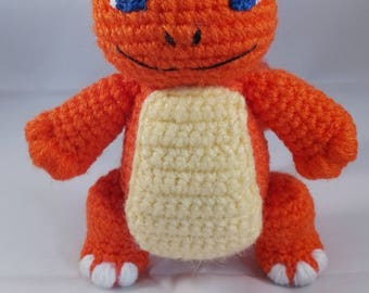Small chamander amigurumi - chamander pokemon - crochet pokemon