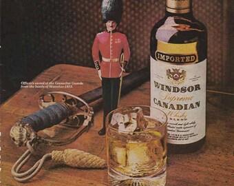 1976 Advertisement Windsor Canadian Whisky Retro Vintage Wall Art Pub Decor Bar Decor Liquor