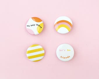 Flair! Button Pack / Yellow