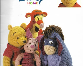 Crochet Pattern Booklet - Disney Home Pooh & Friends - POOH, TIGGER, EEYORE and Piglet - Winnie the Pooh Collection by Leisure Arts 2001