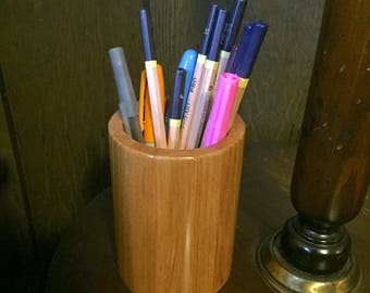 Repurposed Cypress Segmented Pencil Holder