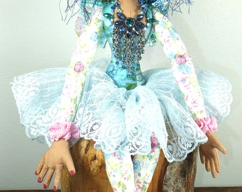Art Doll-Jessika the Faery OOAK Cloth Doll