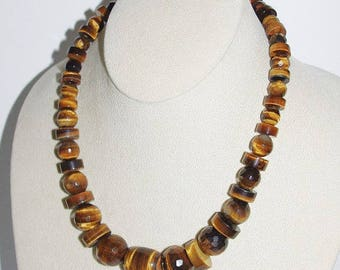 JAY KING Necklace - Tigers Eye Faceted Gemstones with Sterling Silver of Mine Finds - S1352