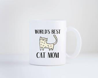 Cat Mom, Cat Mom Mug, Cat, Mug, Mother's Day, Cat Gift