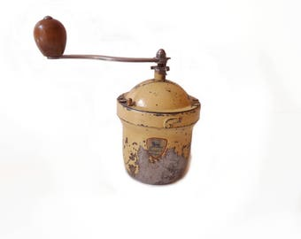 French Coffee Grinder Peugeot Freres Metal Coffee Grinder 1950s Collectibles