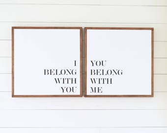 "The ORIGINAL - As seen on INSTAGRAM 24x24"" Sign SET ( Fixer upper, modern farmhouse, master bedroom art )"