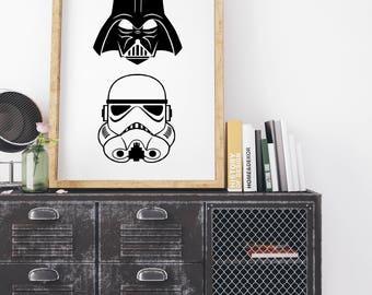 Star Wars - Darth Vador - Storm Tropper - Black and White