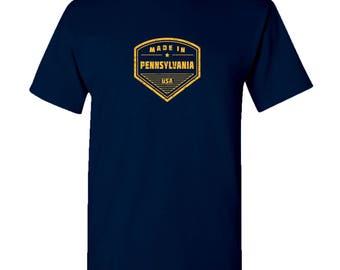 Made in Pennsylvania T Shirt - Navy